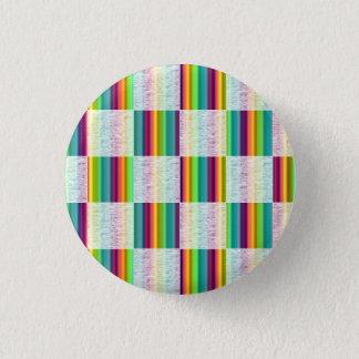 Incandescent Rainbow Plaid (Large) Button