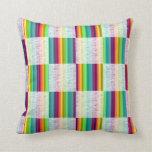 Incandescent Rainbow Plaid (Large) Pillow