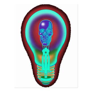 Incandescent skull postcard