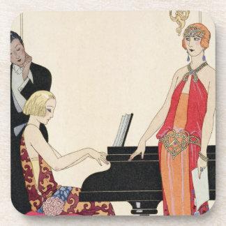 Incantation, illustration for 'Gazette du Bon Ton' Drink Coaster