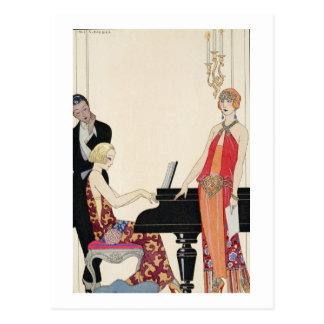 Incantation, illustration for 'Gazette du Bon Ton' Postcard
