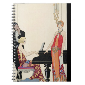 Incantation, illustration for 'Gazette du Bon Ton' Spiral Notebook