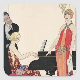 Incantation, illustration for 'Gazette du Bon Ton' Square Sticker
