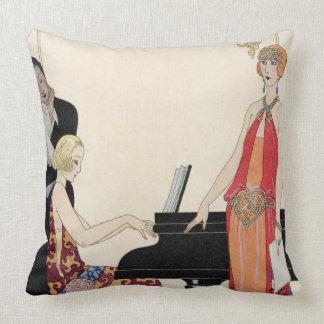 Incantation, illustration for 'Gazette du Bon Ton' Throw Pillow