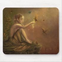 faery, fantasy, butterfly, digital, art, Mouse pad com design gráfico personalizado