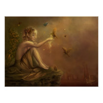 faery, fantasy, butterfly, digital, art, Cartaz/impressão com design gráfico personalizado