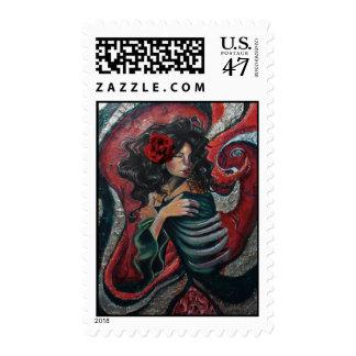 Incarnadine Postage Stamp