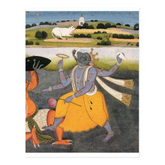 Incarnation of Vishnu as a boar Postcard
