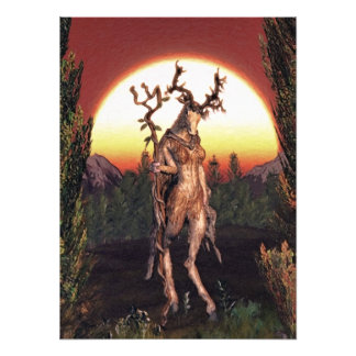 Incarnations Of The Wilderness I - ' The Druidess' Photo Print
