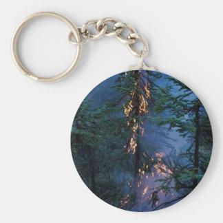 Incendio forestal llavero personalizado