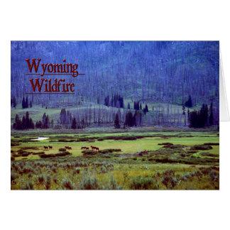Incendio fuera de control de Wyoming Tarjeta De Felicitación