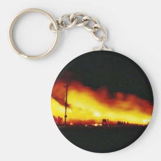Incendio fuera de control en la reserva primera de llavero personalizado