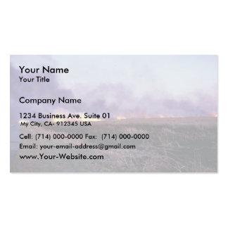 Incendio fuera de control en la reserva primera de tarjetas de visita