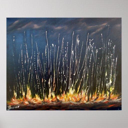 Incendio fuera de control - por Peter Heuscher Impresiones