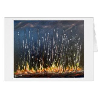 Incendio fuera de control tarjeta de felicitación
