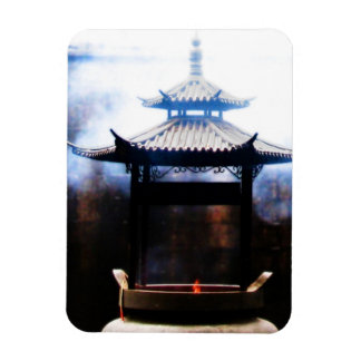 Incense Ascending Rectangular Photo Magnet