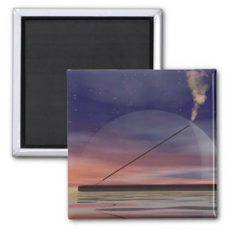 Incense by night 2 inch square magnet