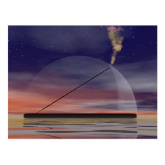 Incense by night postcard