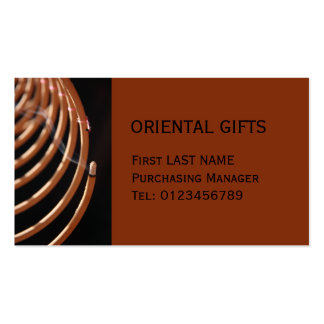 Incense Coil brown Business Card