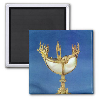 Incense holder in the shape of a boat 2 inch square magnet