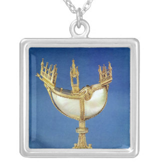 Incense holder in the shape of a boat silver plated necklace