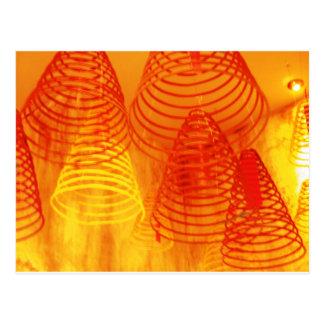 incense postcard