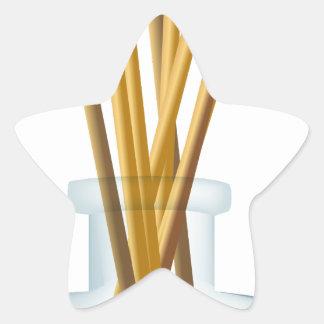 Incense Sticks Perfume Bottle Graphic Star Sticker