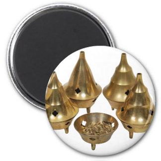IncenseBurner071209 2 Inch Round Magnet