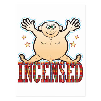 Incensed Fat Man Postcard