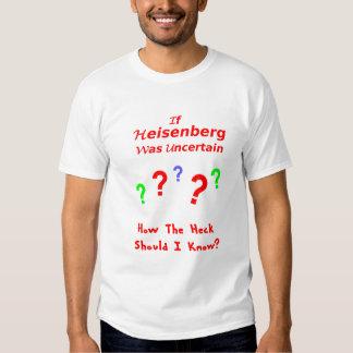 Incertidumbre de Heisenberg Camisas