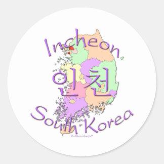 Incheon South Korea Round Stickers