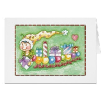 Inching by with Gifts Greeting Cards