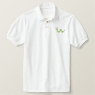 Inchworm Embroidered Polo Shirt