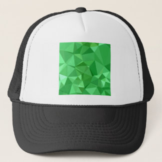 Inchworm Green Abstract Low Polygon Background Trucker Hat