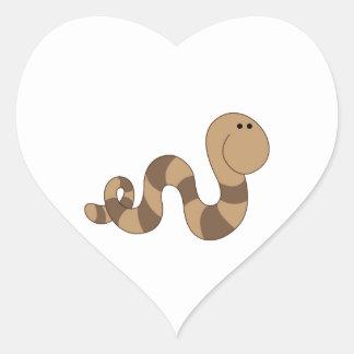 Inchworm Pegatina En Forma De Corazón