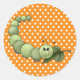 Inchworm Pegatina Redonda