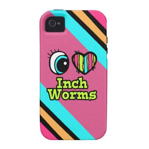 Inchworms brillantes del amor del corazón I del Vibe iPhone 4 Fundas