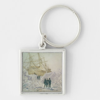 Incident on a Trading Journey: HMS Terror Silver-Colored Square Keychain