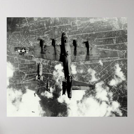 Incidente no.3 del fuego amigo de WWII B-17 Poster