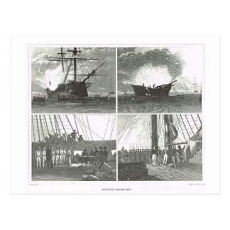Incidents aboard ship postcard