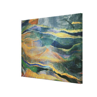 Incidents of Colours and Plains (tempera and penci Canvas Print