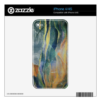 Incidents of Colours and Plains (tempera and penci Decal For iPhone 4
