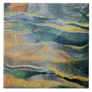 Incidents of Colours and Plains (tempera and penci Tile