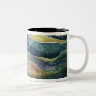 Incidents of Colours and Plains (tempera and penci Two-Tone Coffee Mug