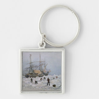 Incidents on a Trading Journey: HMS Terror Silver-Colored Square Keychain