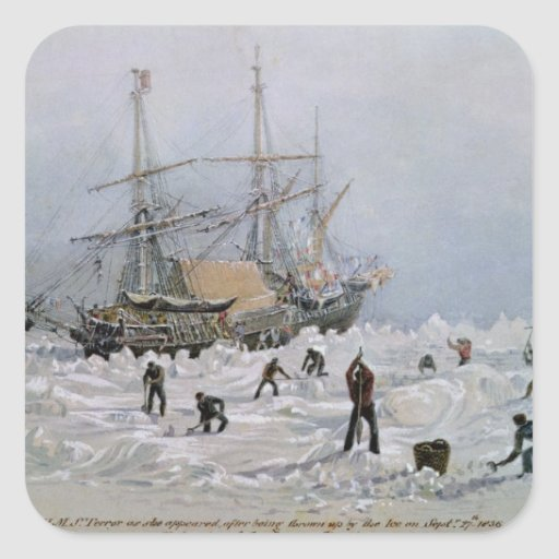 Incidents on a Trading Journey: HMS Terror Square Sticker