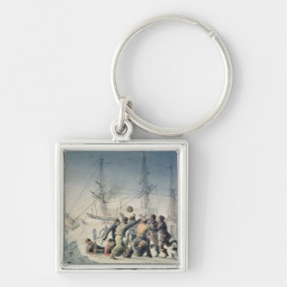 Incidents on a Trading Journey Silver-Colored Square Keychain