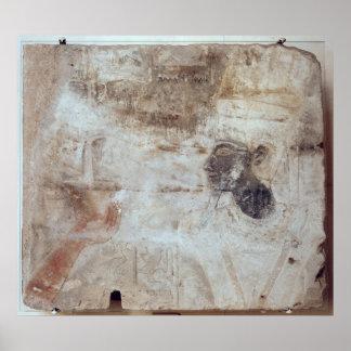 Incienso de ofrecimiento de Tuthmosis III a dios, Poster