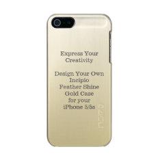 Incipio Feather Shine iPhone 5/5s Case Gold at Zazzle