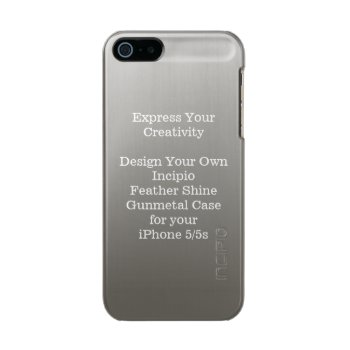 Incipio Feather Shine Iphone 5/5s Case Gunmetal by DigitalDreambuilder at Zazzle